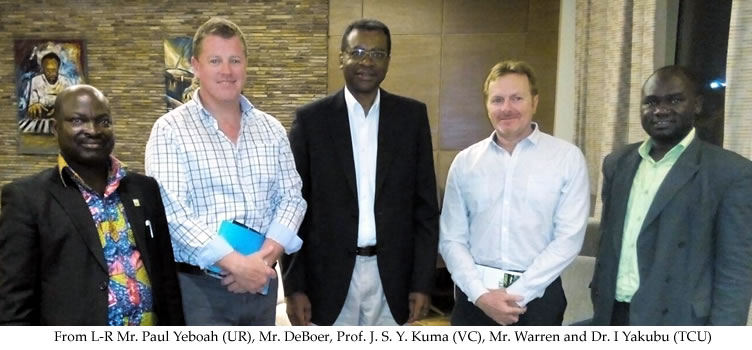 Vice Chancellor Meets Two Senior Officers of the Downer Group of Companies
