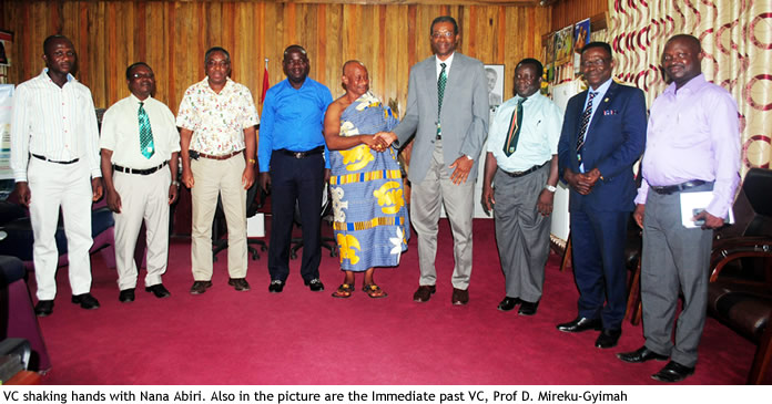 Kenyasi No.1 Traditional Council delegation visits Vice Chancellor