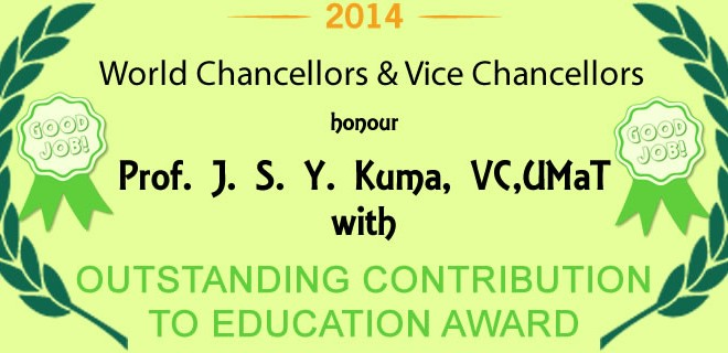 World Chancellors  & Vice Chancellors Honour UMaT VC