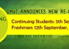 Reopening Date for the 2014/2015 Academic Year