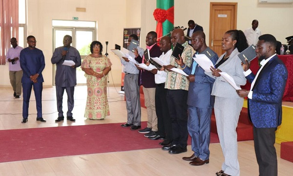 First Batch of Members of Local Management Committees of the Minerals Development Fund for the Tarkwa Mining Area Inaugurated