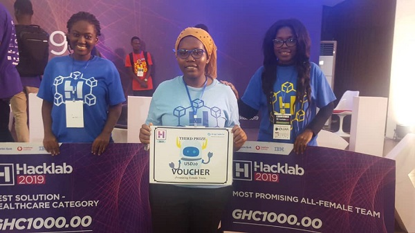 UMaT Students Win Two Awards at the 2019 HackLab Hackathon Competition